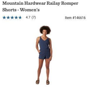 Mountain hardwear women's railay romper shorts